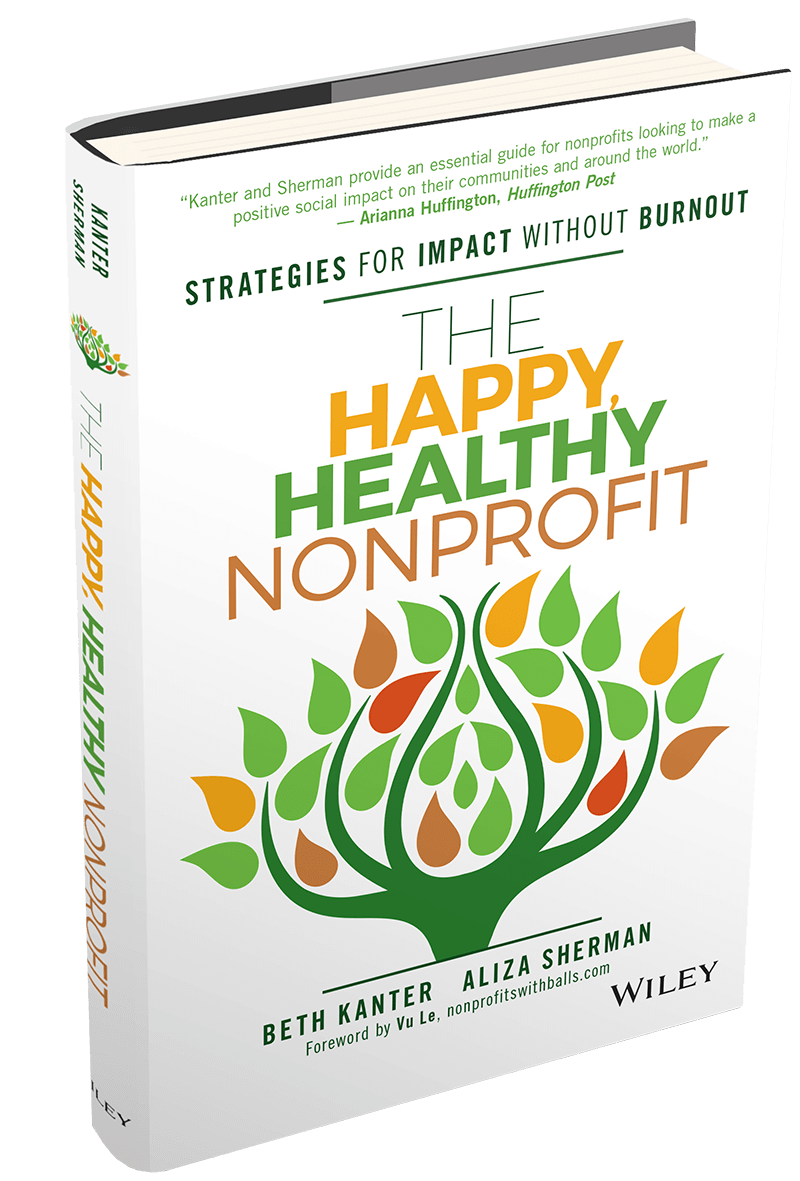 Cover picture of the book The Happy, Healthy Nonprofit